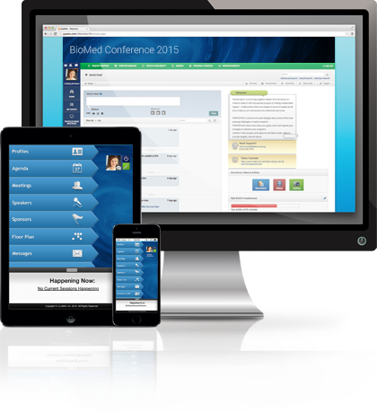 JUJAMA's networking platform is available on desktop, tablet, and mobile devices